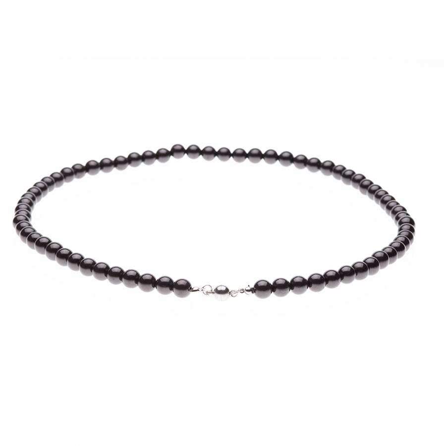 Schungit-Perlenkette 6 mm x 75 Perlen-604