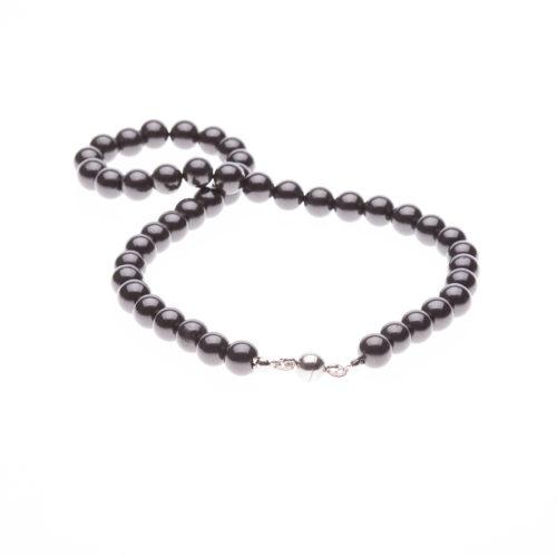 Schungit-Halskette 42 cm-0