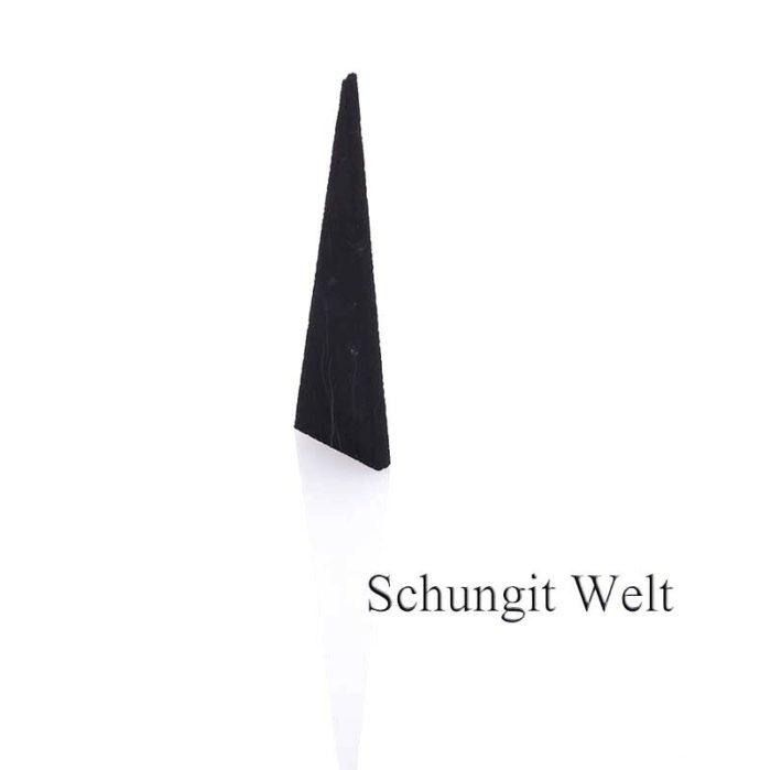 Schungit-Dreieck fürs Wasser unpoliert-610