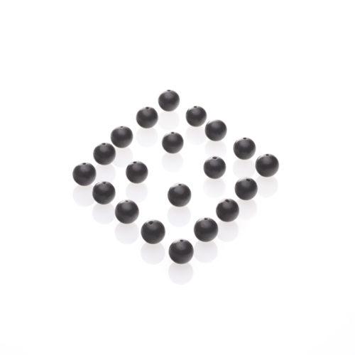 Schungit-Perlen, gebohrt und poliert 10-er Pack-578