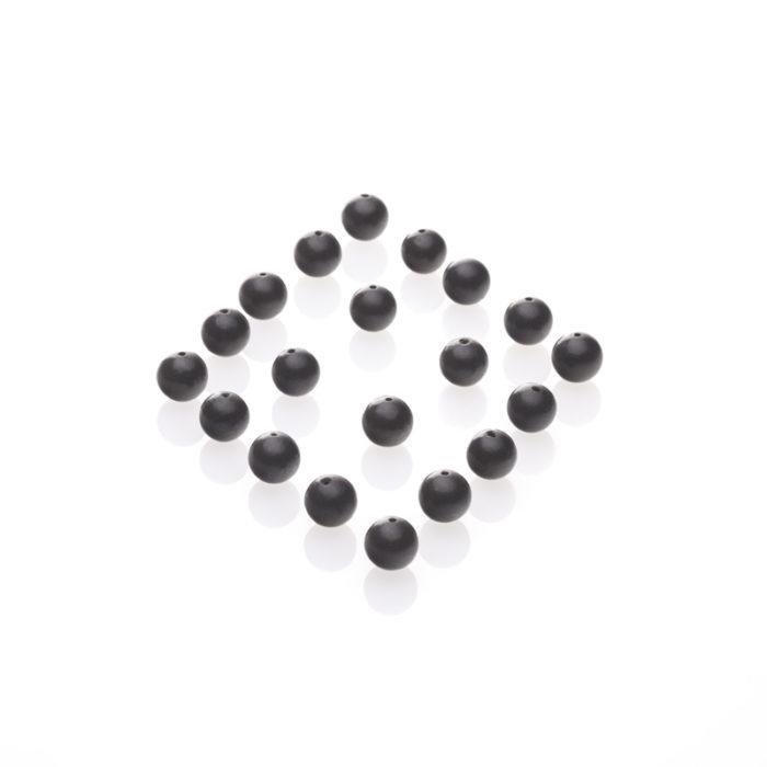 Schungit-Perle, gebohrt und poliert-0